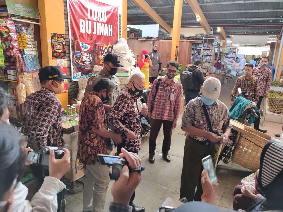 Kunjungan Bupati Bantul ke Pasar Bantul