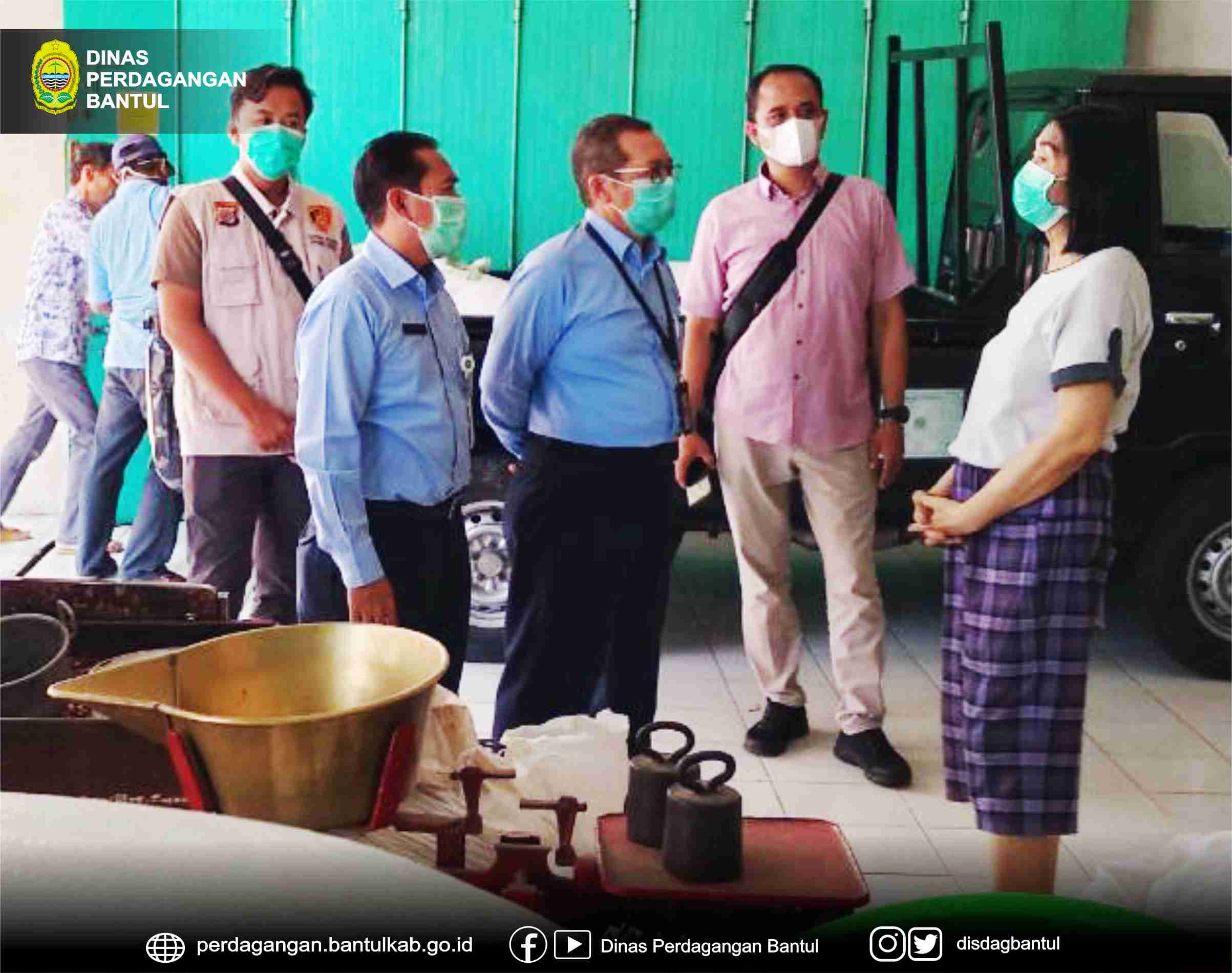 Pemantauan Ketersediaan dan Harga Kedelai Bersama Disperindag DIY dan Satgas Pangan Polres Bantul Ke Distributor Kedelai di Kaupaten Bantul