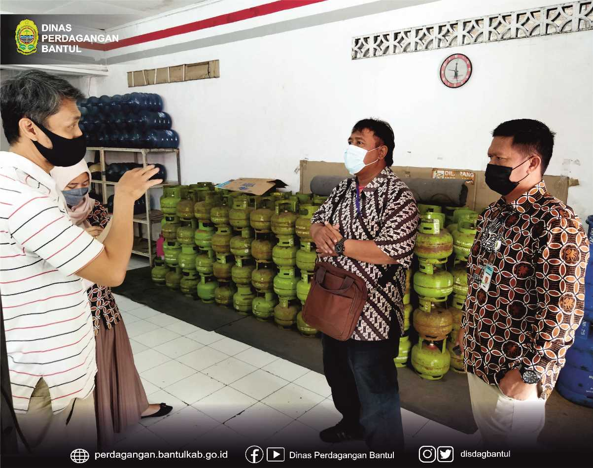 Dinas Perdagangan melakukan monitoring pangkalan LPG 3 Kg di Kabupaten Bantul